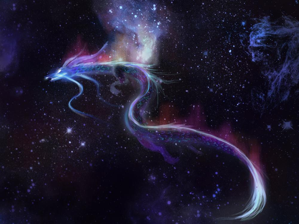Space Dragon By Munwie On DeviantArt