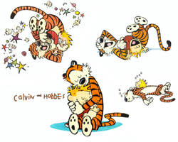 Calvin and Hobbes 1280 Wall by LamboMan7