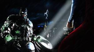 Batman v Superman Showdown - Poster/Wallpaper by LamboMan7