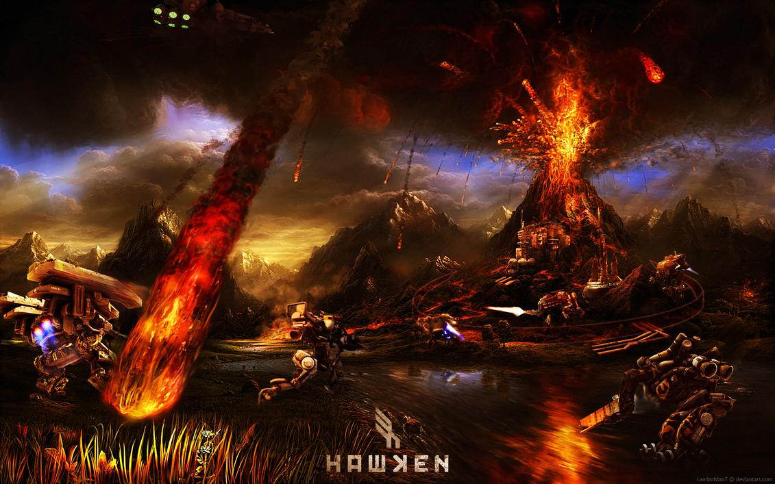 Hawken Volcano Map Idea Concept Art by LamboMan7