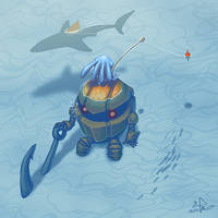 Fizz and Nautilus by waltre