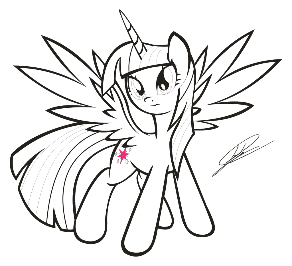 Corn Coloring Pages Printable Mlp Fim Princess Twilight Sparkle Lineart By Dsonic720 On