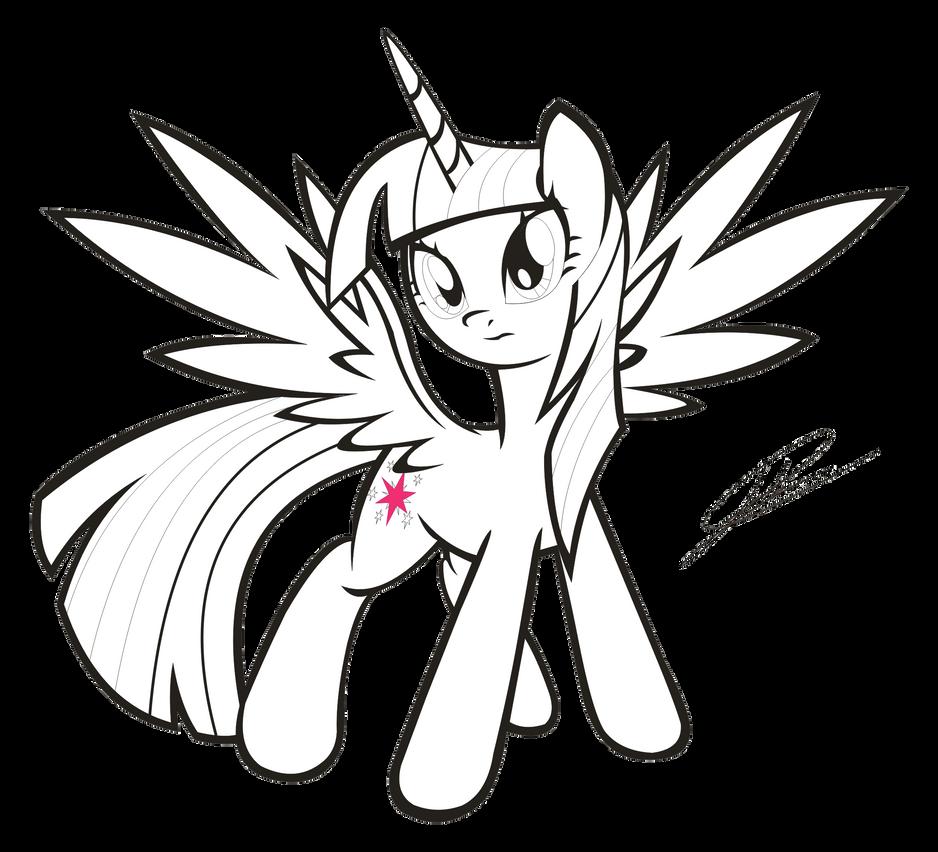 Mlp Princess Twilight Sparkle Pencil Coloring Pages Mlp Fim Coloring Pages