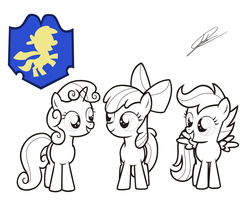 Pony Coloring Pages Cutie Mark Crusaders Photo 3