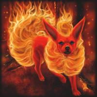 Flareon by ChihuahuasInTheMist