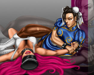 Request for sk701982: Chun Li vs. Poison by ChihuahuasInTheMist