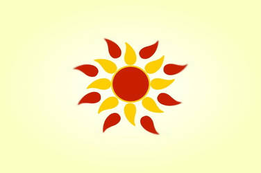 Aztec flower yellow and orange sun vintage vector