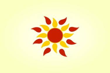 Aztec flower yellow and orange sun vintage vector