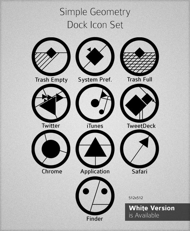 simple geometry dock icon set by arieare on deviantart