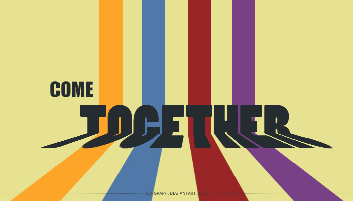 come together    by yungraph d36prhf Text Art + Typography Inspiration For 2011