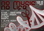 no music no life flyer