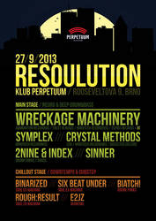 RESOULUTION flyer by 2NiNe