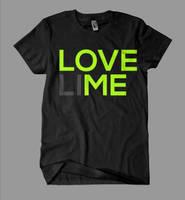 LOVE (LI)ME T-Shirt Typo by 2NiNe