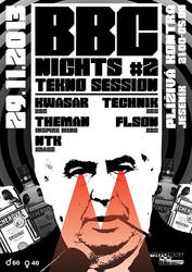 BBC NIGHTS #02 flyer by 2NiNe