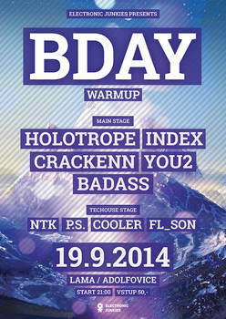 Electronic Junkies Bday Warmup 2014