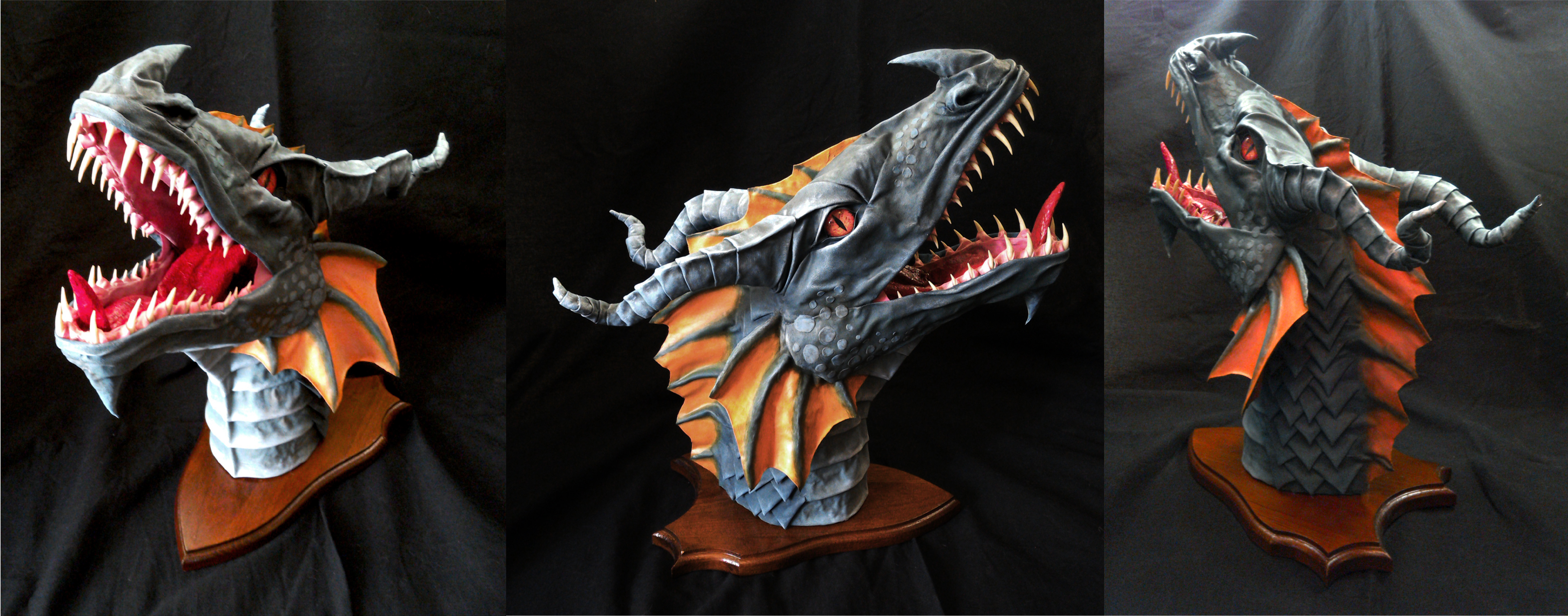 Kaltakess Wall Mounted Dragon Head Trophy By