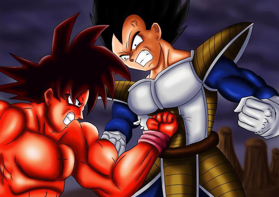 Evolución de mis dibujos (Goku vs Vegeta)