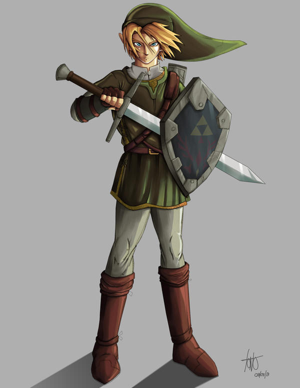 Dibujo Link de legend of zelda (photoshop) - Taringa!