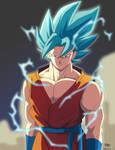 redesign Goku ssj god blue