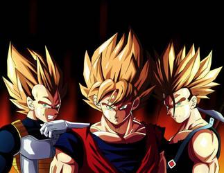 FanArt Vegeta, Goku and Trunks