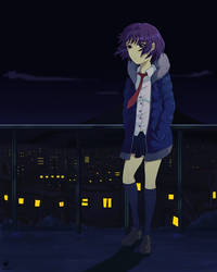 LandScape Girl anime style