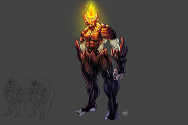 Fire Demon concept art