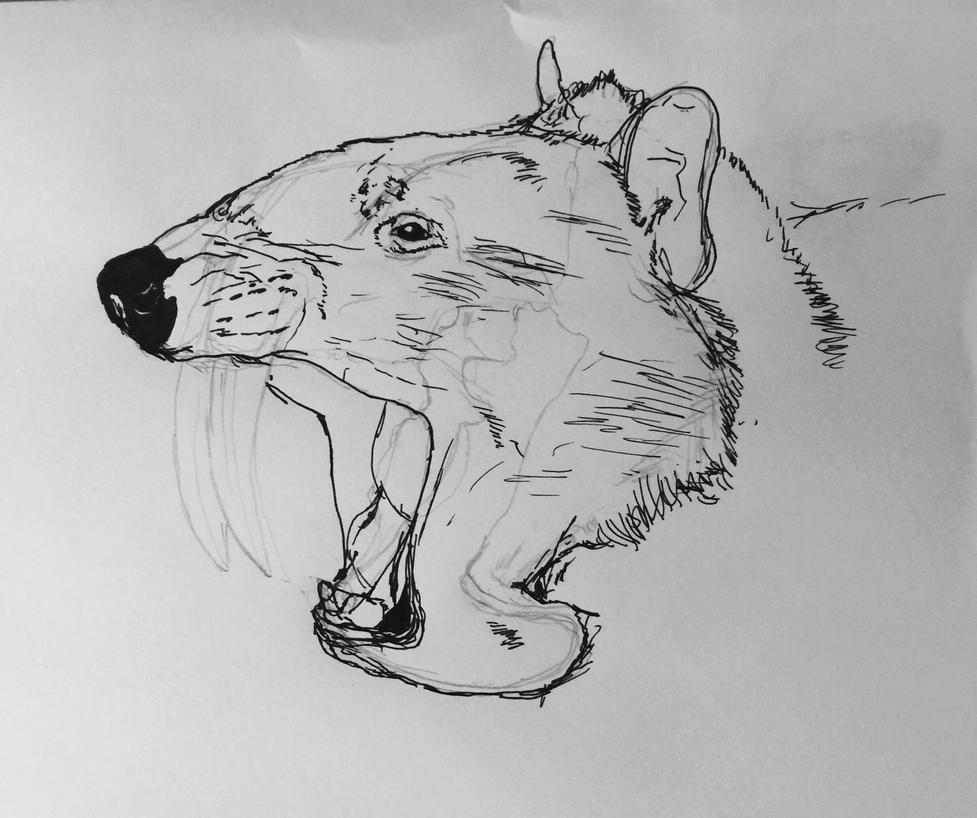 Thylacosmilus by Mechafire1234