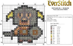 Dovahkiin Free Skyrim Cross Stitch Design