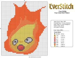 Calcifer Free Cross Stitch Design