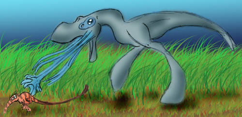 Naucean - Prehistoric Hunt by Hydromancerx