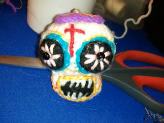 Amigurumi sugar skull by ShuggaMagnolia