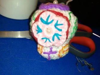 Amigurumi sugar skull - back by ShuggaMagnolia