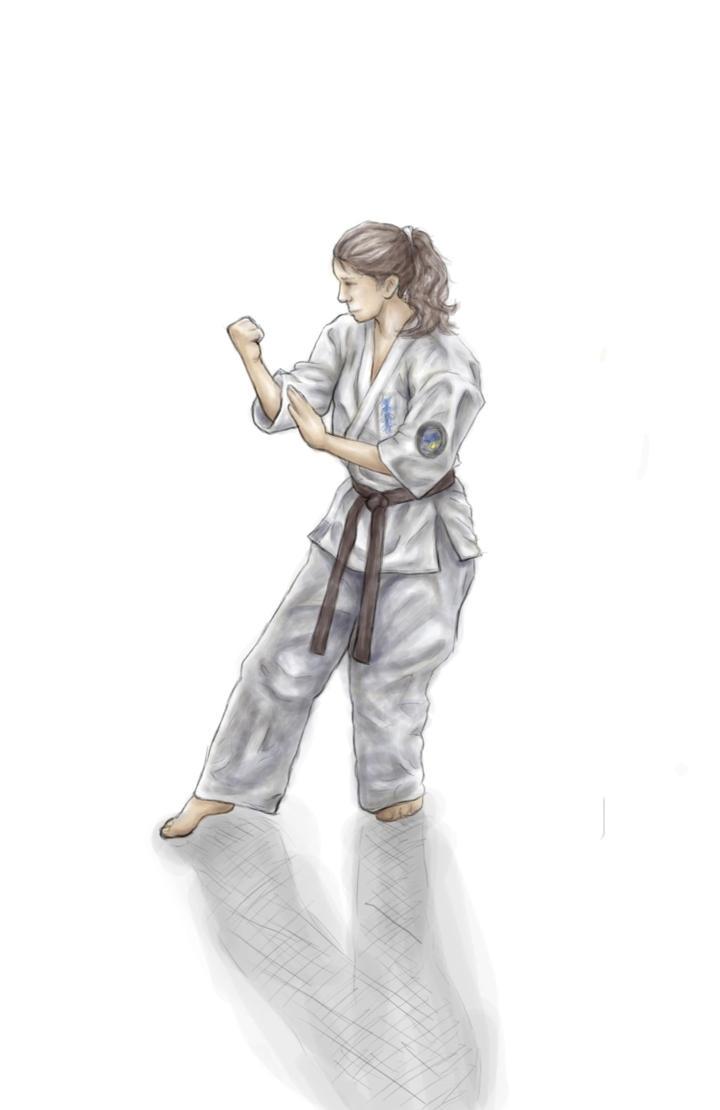 Karate Girl Drawing