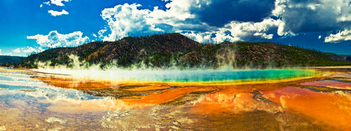 Grand Prismatic Hot Spring by lepersabstain
