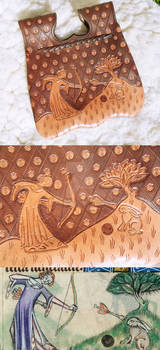 Late XIV century girdle purse