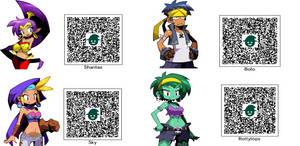 Shantae and Friends Mii QR codes