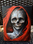The Red Death 8x10 oil on canvas