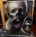 Blown Away 8x10 oil on canvas