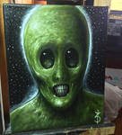 Little Green Men 8x10 oil on canvas