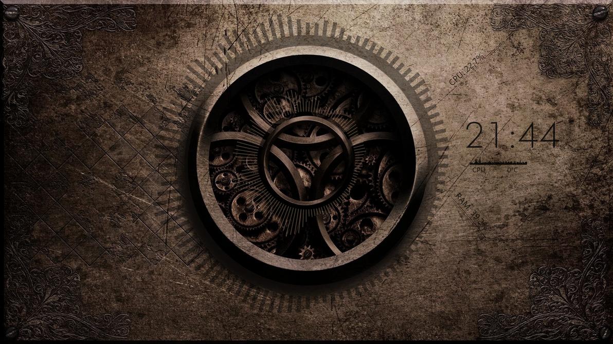 Minimalistic Steampunk Desktop by Tanieye