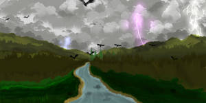 My 1st full landscape art , if u can call it art by denissv2
