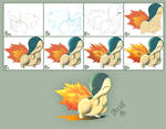 Cyndaquil Coloring Process