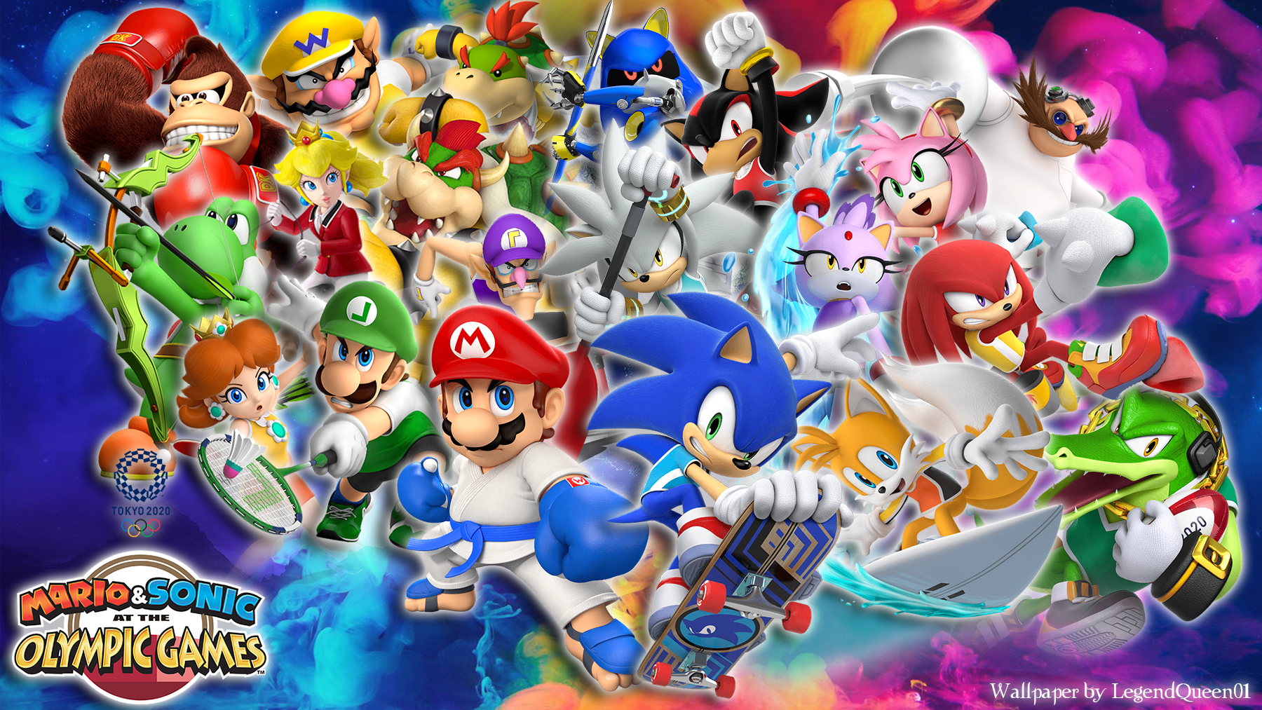 Mario And Sonic At The Olympic Games 2020.Wallpaper Mario Sonic At The Olympic Games 2020 By