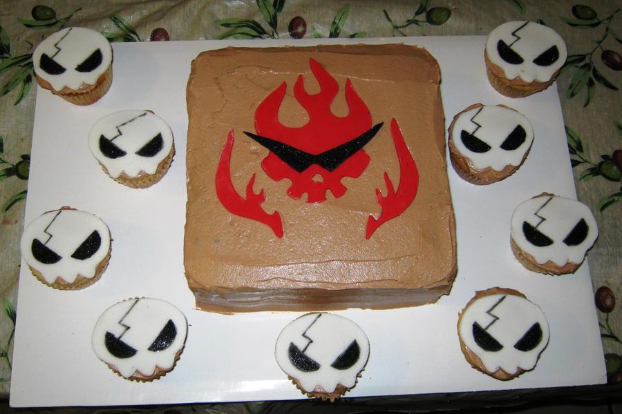 Gurren Lagann Birthday cake by Jennfrog