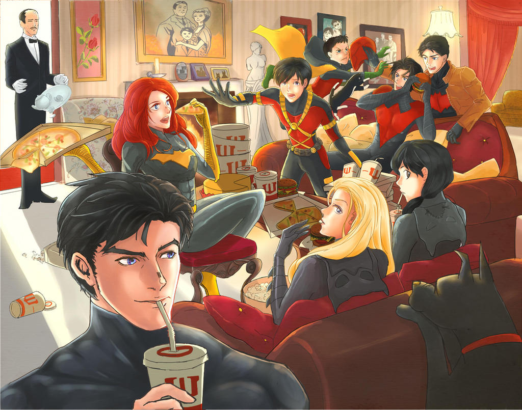 Batfamily by TOUZOKU-NO-AKASHI