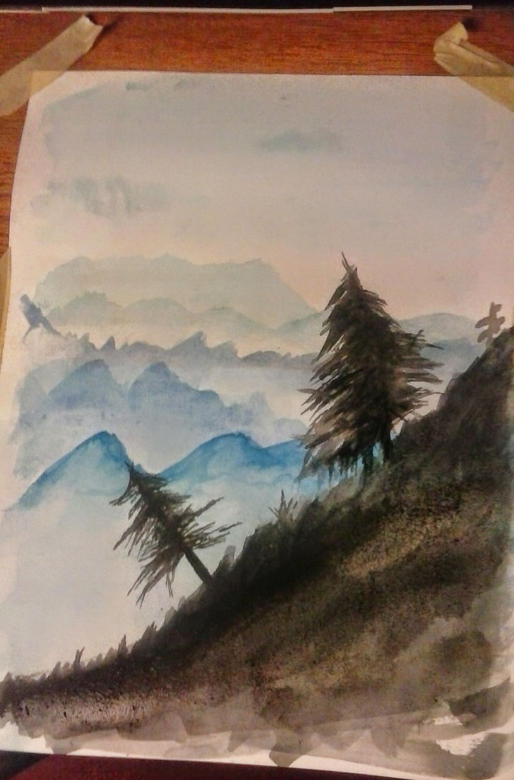 Watercolor practice by telpri