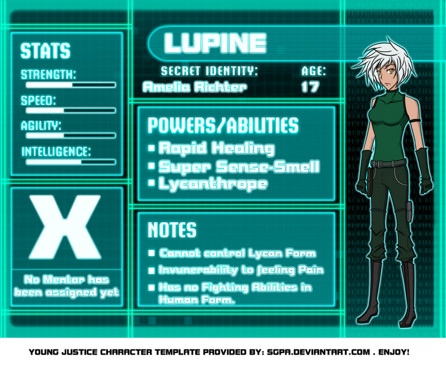 Amelia Ritchter Young Justice Bios by Raixal on DeviantArtYoung Justice Season 3 Character Bios