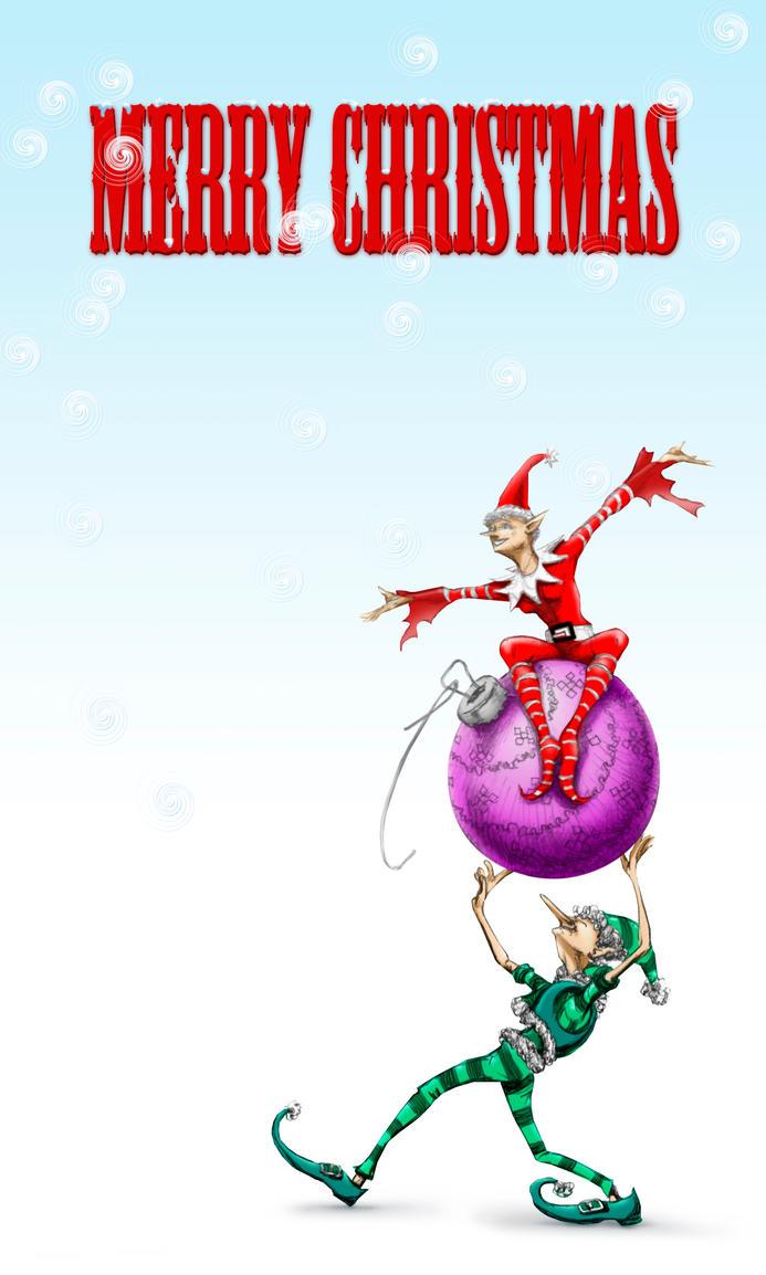 Elf Christmasmas Card by Dragonbreath1023