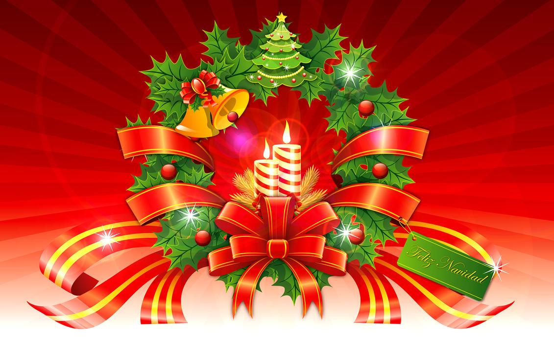 Christmas Wreath Wallpaper by sammy8a on DeviantArt