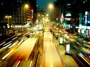 blury night